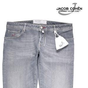 【38】 JACOB COHEN ヤコブコーエン ジーンズ PW622 メンズ グレー 灰色 並行輸入品 デニム 大きいサイズ|utsubostock