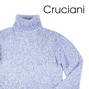 【50】 CRUCIANI クルチアーニ タートルネックセーター メンズ 秋冬 ブルー 青 並行輸入品 ニット|utsubostock