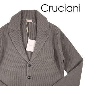 CRUCIANI(クルチアーニ) ニットジャケット CU10.020 カーキ 50 【W20211】|utsubostock