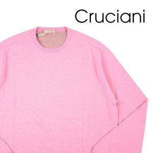 【50】 CRUCIANI クルチアーニ 丸首セーター メンズ 秋冬 カシミヤ混 ピンク 並行輸入品 ニット utsubostock