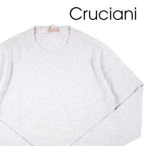【50】 CRUCIANI クルチアーニ 丸首セーター メンズ 秋冬 カシミヤ100% グレー 灰色 並行輸入品 ニット|utsubostock