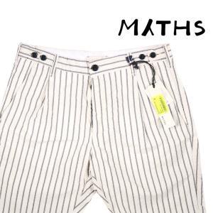MYTHS(ミズス) ハーフパンツ 18M70B74 ホワイト x グレー 48 20403 【S20404】|utsubostock