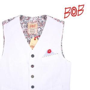 【46】 BOB ボブ ジレ R357 メンズ 春夏 ホワイト 白 並行輸入品 ベスト|utsubostock