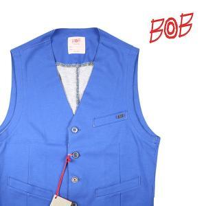【50】 BOB ボブ ジレ T373 メンズ ブルー 青 並行輸入品 ベスト|utsubostock