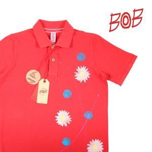 【M】 BOB ボブ 半袖ポロシャツ BOB メンズ 春夏 花柄 レッド 赤 並行輸入品 トップス utsubostock