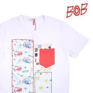 【S】 BOB ボブ Uネック半袖Tシャツ ROSY メンズ 春夏 ホワイト 白 並行輸入品 トップス|utsubostock