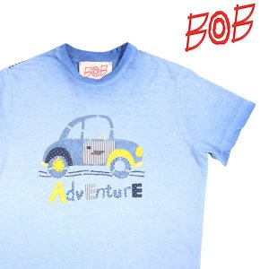 【S】 BOB ボブ Uネック半袖Tシャツ READY メンズ 春夏 ブルー 青 並行輸入品 トップス utsubostock