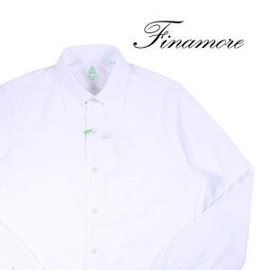 【43】 FINAMORE フィナモレ 長袖シャツ メンズ ホワイト 白 並行輸入品 カジュアルシャツ 大きいサイズ utsubostock
