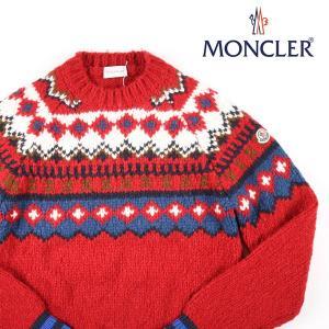 【S】 MONCLER モンクレール 丸首セーター  メンズ 秋冬 レッド 赤 並行輸入品 ニット|utsubostock