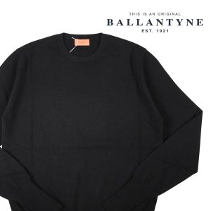 【54】 BALLANTYNE バランタイン 丸首セーター Y2P00012K00 メンズ 秋冬 カシミヤ100% ブラック 黒 並行輸入品 ニット 大きいサイズ|utsubostock