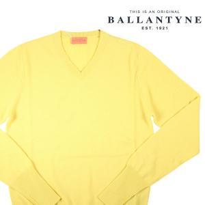 【54】 BALLANTYNE バランタイン Vネックセーター Y2P00112K00 メンズ 秋冬 カシミヤ100% イエロー 黄 並行輸入品 ニット 大きいサイズ|utsubostock
