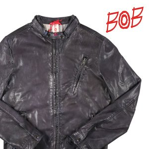 【46】 BOB ボブ ブルゾン BIKE/W メンズ 秋冬 レザー ブラック 黒 レザー 並行輸入品 アウター トップス|utsubostock