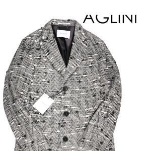 【50】 AGLINI アリーニ チェスターコート メンズ 秋冬 ホワイト 白 並行輸入品 アウター トップス|utsubostock