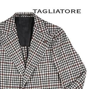 【50】 TAGLIATORE タリアトーレ ジャケット GPL26K メンズ 秋冬 アルパカ混 チェック ホワイト 白 並行輸入品 アウター トップス|utsubostock
