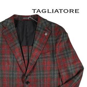 【48】 TAGLIATORE タリアトーレ ジャケット 1SVS22K メンズ 秋冬 チェック レッド 赤 並行輸入品 アウター トップス|utsubostock