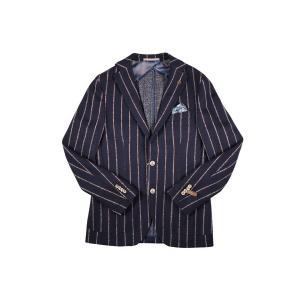 【48】 PAOLONI パオローニ ジャケット メンズ 秋冬 ストライプ ネイビー 紺 並行輸入品 アウター トップス|utsubostock|02