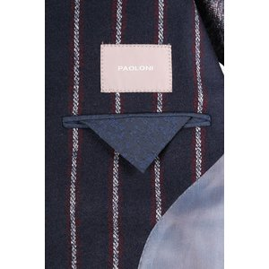 【48】 PAOLONI パオローニ ジャケット メンズ 秋冬 ストライプ ネイビー 紺 並行輸入品 アウター トップス|utsubostock|11