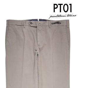 PT01(ピーティー ゼロウーノ) コットンパンツ EB19 ベージュ 52 【W20697】|utsubostock