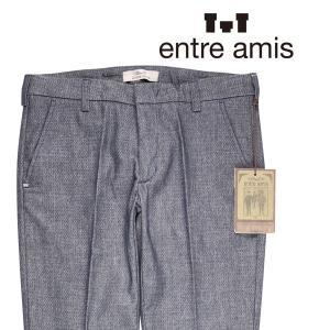 【40】 ENTRE AMIS アントレアミス パンツ メンズ 秋冬 ネイビー 紺 並行輸入品 ズボン 大きいサイズ|utsubostock