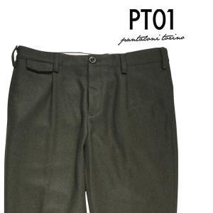 PT01(ピーティー ゼロウーノ) ウールパンツ IX16 グリーン 34 20709 【W20709】|utsubostock