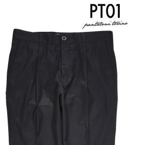PT01(ピーティー ゼロウーノ) ウールパンツ CO51 ブラック 36 20711bk 【W20712】 utsubostock