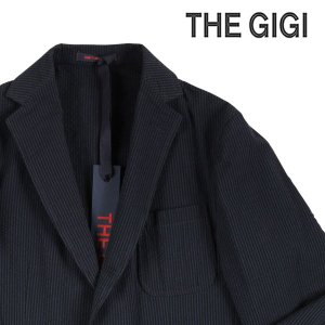 【52】 THE GIGI ザ ジジ ジャケット ANGIE F203 メンズ 春夏 ストライプ ネイビー 紺 並行輸入品 アウター トップス 大きいサイズ|utsubostock