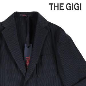 【54】 THE GIGI ザ ジジ ジャケット ANGIE F203 メンズ 春夏 ストライプ ネイビー 紺 並行輸入品 アウター トップス 大きいサイズ|utsubostock
