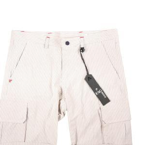 【48】 FAG ファグ ハーフパンツ メンズ 春夏 リネン混 ストライプ グレー 灰色 並行輸入品 ズボン utsubostock