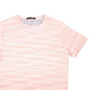 【L】 Indiuidual インディビデュアル Uネック半袖Tシャツ メンズ 春夏 ピンク 並行輸入品 トップス|utsubostock