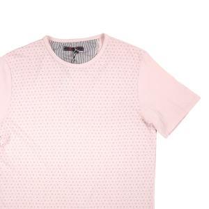 【M】 Indiuidual インディビデュアル Uネック半袖Tシャツ メンズ 春夏 総柄 ベージュ 並行輸入品 トップス|utsubostock