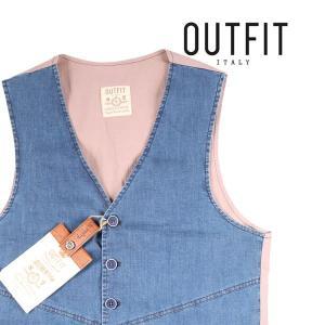 【50】 OUTFIT アウトフィット ジレ メンズ ブルー 青 並行輸入品 ベスト|utsubostock