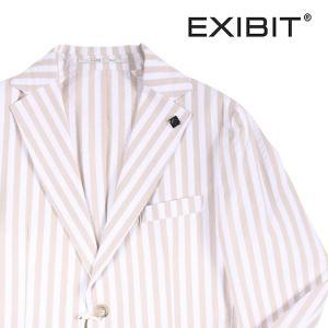 EXIBIT(エグジビット) ジャケット GCD32736 ホワイト x ベージュ 44 20822 【S20822】|utsubostock