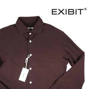 【XXL】 EXIBIT エグジビット 長袖シャツ メンズ ブラウン 茶 並行輸入品 カジュアルシャツ 大きいサイズ utsubostock