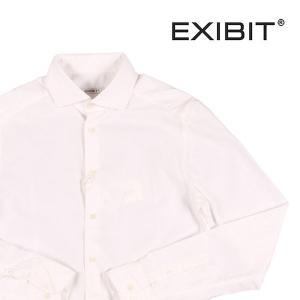 【L】 EXIBIT エグジビット 長袖シャツ メンズ ホワイト 白 並行輸入品 カジュアルシャツ|utsubostock