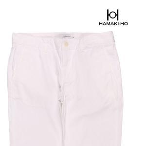 【44】 HAMAKI-HO ハマキホ コットンパンツ メンズ 春夏 ホワイト 白 並行輸入品 ズボン|utsubostock