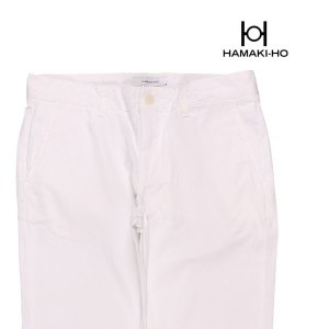 【54】 HAMAKI-HO ハマキホ コットンパンツ メンズ 春夏 ホワイト 白 並行輸入品 ズボン 大きいサイズ|utsubostock