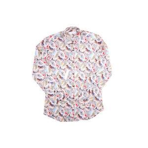 【42】 POGGIANTI 1958 ポジャンティ 1958 長袖シャツ メンズ ペイズリー マルチカラー 並行輸入品 カジュアルシャツ 大きいサイズ|utsubostock|02
