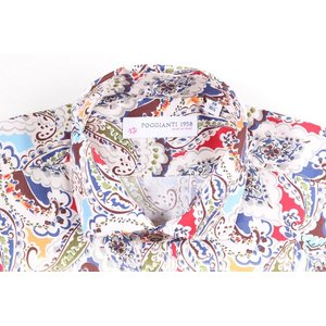 【42】 POGGIANTI 1958 ポジャンティ 1958 長袖シャツ メンズ ペイズリー マルチカラー 並行輸入品 カジュアルシャツ 大きいサイズ|utsubostock|04