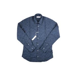 【45】 POGGIANTI 1958 ポジャンティ 1958 長袖シャツ メンズ 刺繍 花柄 ネイビー 紺 並行輸入品 カジュアルシャツ 大きいサイズ|utsubostock|02