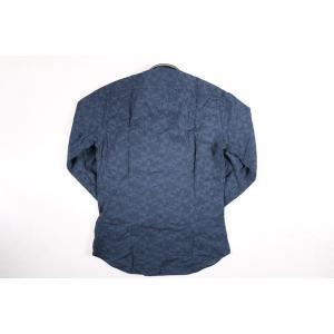 【45】 POGGIANTI 1958 ポジャンティ 1958 長袖シャツ メンズ 刺繍 花柄 ネイビー 紺 並行輸入品 カジュアルシャツ 大きいサイズ|utsubostock|03