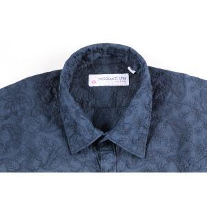 【45】 POGGIANTI 1958 ポジャンティ 1958 長袖シャツ メンズ 刺繍 花柄 ネイビー 紺 並行輸入品 カジュアルシャツ 大きいサイズ|utsubostock|04