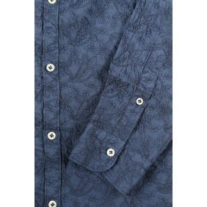 【45】 POGGIANTI 1958 ポジャンティ 1958 長袖シャツ メンズ 刺繍 花柄 ネイビー 紺 並行輸入品 カジュアルシャツ 大きいサイズ|utsubostock|05