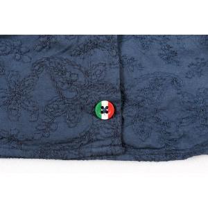 【45】 POGGIANTI 1958 ポジャンティ 1958 長袖シャツ メンズ 刺繍 花柄 ネイビー 紺 並行輸入品 カジュアルシャツ 大きいサイズ|utsubostock|06