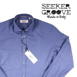 【L】 SEEKER GROOVE シーカーグルーブ 長袖シャツ メンズ ネイビー 紺 並行輸入品 カジュアルシャツ|utsubostock