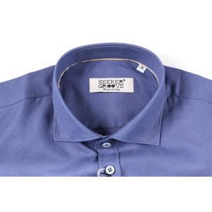 【L】 SEEKER GROOVE シーカーグルーブ 長袖シャツ メンズ ネイビー 紺 並行輸入品 カジュアルシャツ|utsubostock|04