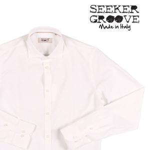 【L】 SEEKER GROOVE シーカーグルーブ 長袖シャツ メンズ ホワイト 白 並行輸入品 カジュアルシャツ|utsubostock