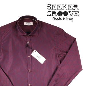 【M】 SEEKER GROOVE シーカーグルーブ 長袖シャツ メンズ レッド 赤 並行輸入品 カジュアルシャツ|utsubostock