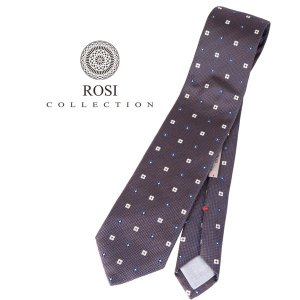 ROSI COLLECTION ロージコレクション ネクタイ メンズ 花柄 ブラウン 茶 並行輸入品|utsubostock
