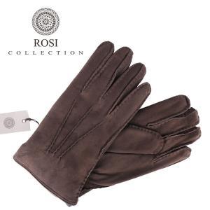 ROSI COLLECTION ロージコレクション グローブ メンズ 秋冬 ブラウン 茶 レザー 並行輸入品|utsubostock