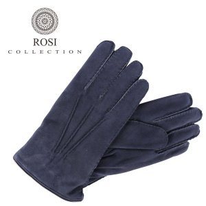 ROSI COLLECTION ロージコレクション グローブ メンズ 秋冬 ネイビー 紺 レザー 並行輸入品|utsubostock